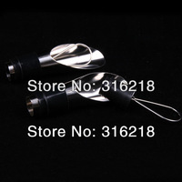 (Free shipping) stainless steel Wine pourer with rubber stopper  for wine accessories 100pcs/lot