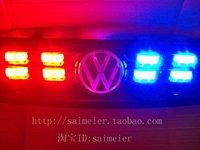 FREE SHIPPING  8*2 LED Fire Truck Flashing Strobe Lights Red,Blue  Bulb