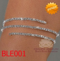 Fashion rhinestone armlet crystal body bangles gorgeous arm bracelet 60pcs/lot free shipping