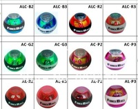 Power seller+ Free Shipping 1piece promotion plastic spin toy,multicolor force ball for sport game