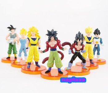 "Free Shipping  4.9 ""Anime Dragon ball Z Son Goku Vegita PVC Figures Toy Model NEW (7pcs/set)"