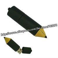 free dropshipping 100% full of memory 8GB Pencil Shaped USB Flash disk Drive Black