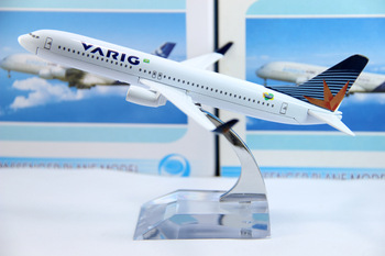 Free Shipping: China Post, Brazil Airline,B737-800 VIRIG,16cm,metal airplane models,airplane model, airbus prototype machine,
