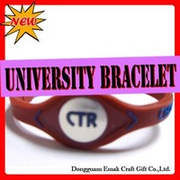 Hot sale university bracelet,CHOOSE-THE-RIGHT,force powerbandz