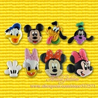 Guarantee 100%40pcs/ Lot Mickey  PVC shoe decoration/shoe charms/shoe accessories for clogs,Birthday gift,Party favor.