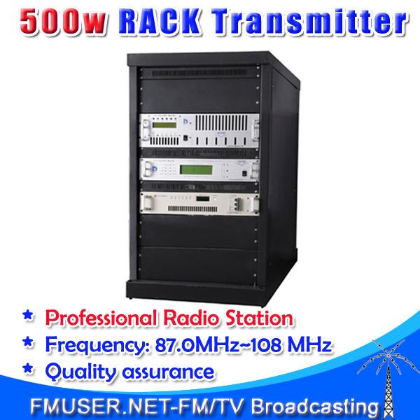 500W Rack FM Transmitter Professional FM broadcast transmitter digital FM exciter AES/EBU input(China (Mainland))