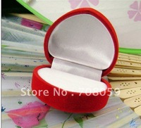 VELVET GIFT BOX Heart-shaped ring fine red velvet gift box jewelry box
