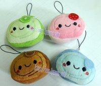 MPP046 plush omelet/egg roll cell phone pendant,plush pendant,bag pendant,cell phone charm,Free shipping!Wholesale