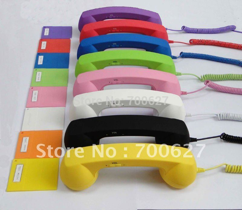 Radiation Proof Mobile Phone Handset/headset with Volume Control,answering/hanging up button(China (Mainland))