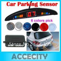 C1812V Car Color LED Display Indicator Reverse Backup Radar Kit 4 Parking Sensor System