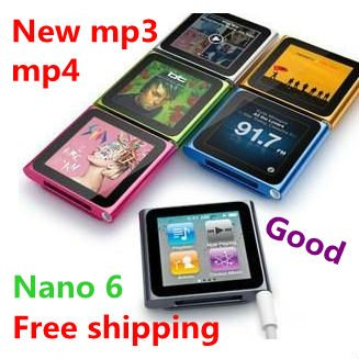 Free shipping 1pcs/lot 6th clip mp3 mp4 touch screen 4gb player 1,8inch+shake song best gift(China (Mainland))