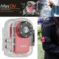 Freeshipping, Waterproof Mini DVR for Outdoor Sports with 2 Million CMOS Sensor