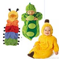 New Spring 2015 Baby pea and banana Sleeping Bag sleep bags FLEECE Infant Children's rompers