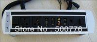 ZSP-4.5 Hidden electric desktop socket includes three power, a network, a VGA, a 3.5 audio, a series of video interface