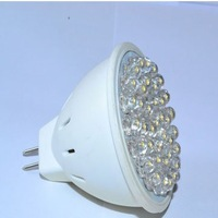 Free shipping!! MR16 38 led 2.5W 110/240V Cool White LED Spotlight Light Lamp Bulb 10pcs /Lot