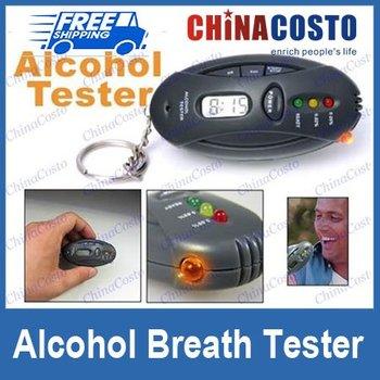 Alcohol Breath Tester Analyzer,Keychain Breathalyzer,10pcs/lot,Free Shipping