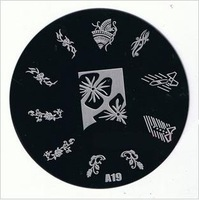 Wholesale 50 Pcs / lot, Stamping Nail Art Image Plate Stencils