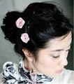 Hot sale!!100pc! Korean style rose girl hairpin/girl&#39;s accessories, fashion hair clip,hair accessory