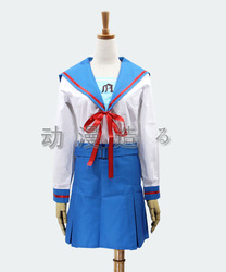 Cosplay Haruhi Suzumiya girl school uniform sailor Uniform ACG Costume(China (Mainland))