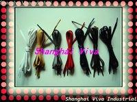 DHL free shipping 80pairs/lot hot selling   waxed shoelace, 80cm, flat shape.
