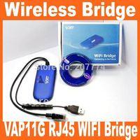 VAP11G RJ45 WIFI Bridge/Wireless Bridge For Dreambox Xbox PS3 PC Camera TV Wifi Adapter with Retail Box, Free Shipping!