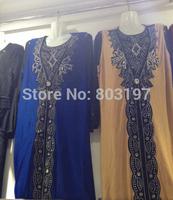 muslim abaya abaya with diamond embroidery black/blue abaya summer women abaya