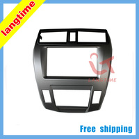 Free shipping-Car refitting DVD frame,DVD panel,Dash Kit,Fascia,Radio Frame,Audio frame for 08-2011 Honda City(aircon auto),2DIN