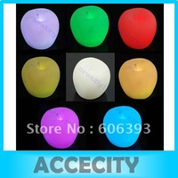 Free Shipping Apple 7-Color Changing LED Party Decor Night Light Lamp Christmas Xmas gift