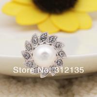 Free Shipping Fashion Crystal White Bridal Flower Hair Pins Silver Plating Hairpins 7cm 120pcs/Lot