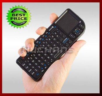 2011 New 2.4G wireless bluetoothmini keyboard with touchpad,night light,freeshipping