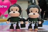 free shipping ! monkey USB flash memory drive 4GB usb 2.0 cartoon design wholesale&retail