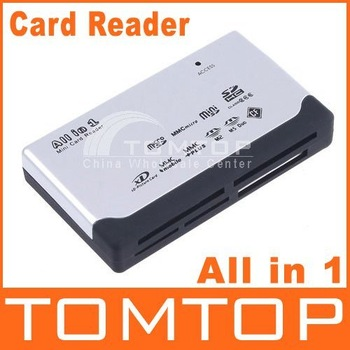 USB 2.0 ALL IN 1 Multi CARD READER SD/XD/MMC/MS/CF/SDHC, Free Shipping + Wholesale