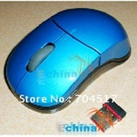 2.4Ghz Mini Optical Wireless Mouse USB Brand New Blue Black Wholesale and Freeshipping 50 pcs