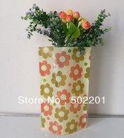 Free Shipping DIY Reusable Foldable Flat PVC Plastic Flower Vase Large size HA0005