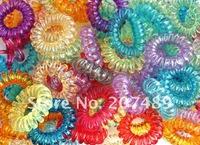 diameter 3cm New Colorful Korea Rope Elastic Girl's Rubber Hair Ties Bands Headband Phone Strap Hair Band whcn+