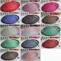 Hot Selling  20*8.5 cm Sinamay Anomalistic Base Millinery Form Hat 10pcs/lot