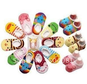 Infants CUTE 3D cartoon animal Sock Baby short socks Prevent slippery Modelling Toddler antislip Sox/antiskid sock Newborn shoes