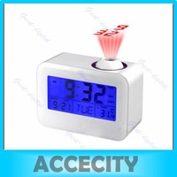 Free Shipping Talking Projection Alarm Digital LED Projector Clock with calendar and thermometer
