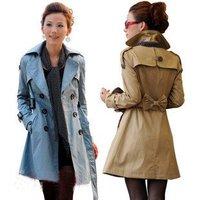 New Women's Overcoat Lady Trench Coat Outerwear Fashion Windbreaker Elegant Woman Autumn Clothing Spring