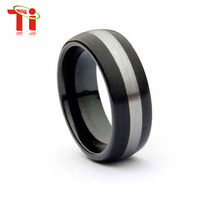 Free Shipping the most popular custom size 10 ring tungsten black men ring tungsten ring