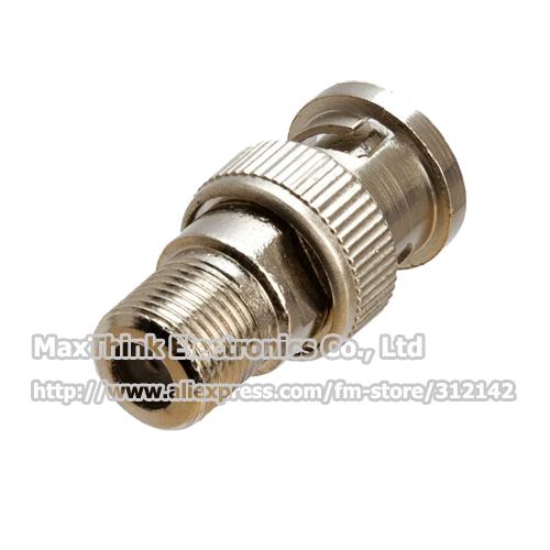 F type F Female Jack to BNC Male Plug RF Coaxial Adapter , 50pcs , Free shipping(China (Mainland))