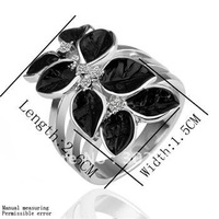 18k white gold plated ring,Rhinestone Crystal ring,gold ring,ring     LKN18KRGPR082