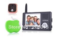 2014 Made in China Free shipping peep hole viewer wireless video doorphone hotsale