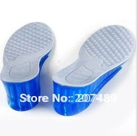 Taller silicon GEL Heighten Increase Insoles Pads alveolate Full-length Size Euro 39-45 wholesale