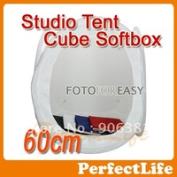 24'' 60x60cm Light Tent Photo Softbox Cube Soft Box  With 4 Backdrops 1 Carry Case