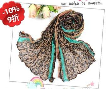 10% discount.wholesale.women's fashion cotton printed scarf shawls Leopard voile shawls/scarfs/scarves,20pcs/lot.