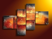 warm color abstract paintings  Free Shipping Guaranteed 100% Hand-painted on canvas
