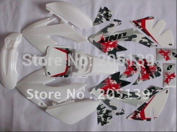 NEW MOTOCROSS 3M graphic decals sticker & plastic white for HONDA moto dirt pit  XR50 CRF50 -4