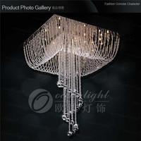 2014 New Arrival Real Chandelier Crystal Lustres De Cristal Crystal Lighting Square-shaped Om930 L60cm W60cm H85cm Free Shipping