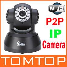 WIFI IP Camera IR Nightvision Wireless Encryption LED P2P 2-Way Audio Network cameras(China (Mainland))